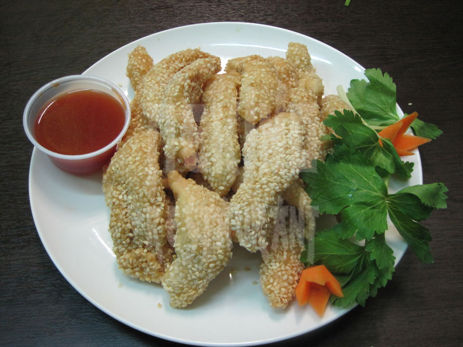 Κοτόπουλο με σουσάμι