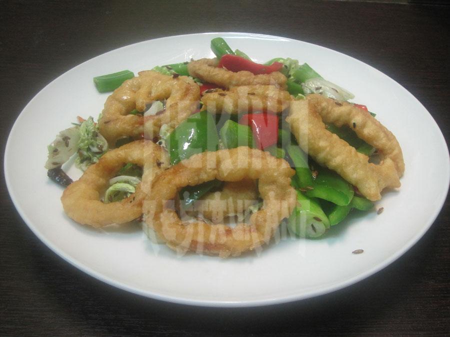 Καλαμάρι με σάλτσα Τζιάο Γιαν