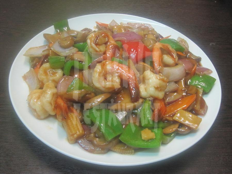 Γαρίδες με σάλτσα στρειδιών