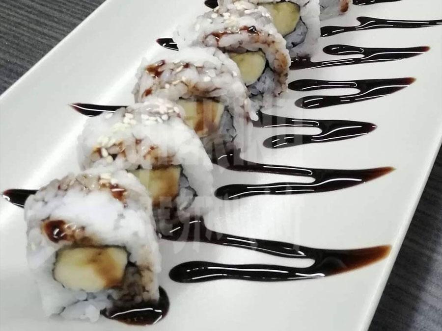 Sushi με μπανάνα & Sauce σοκολάτα